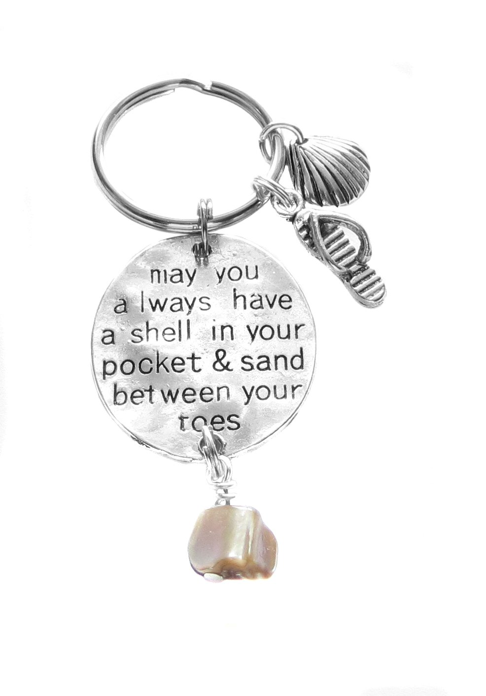 Heart Projects May you always have a shell in your pocket & sand between your toes Key Chain
