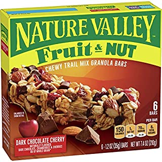 Nature Valley Chewy Trail Mix Granola Bar, Dark Chocolate Cherry, 12 Bars