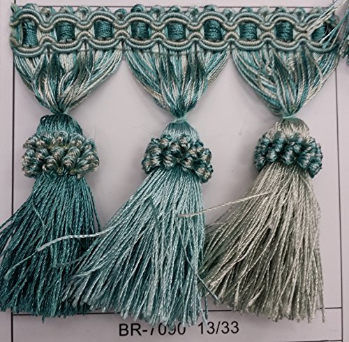 Beaded Tassel Fringe Trim 3.5