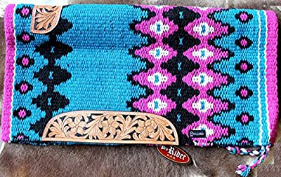 34x36 Horse Wool Western Show Trail SADDLE BLANKET Rodeo Pad Rug Turquosie 3663C