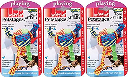 Amazon.com : (3 Pack) Petstages Tons of Tails Catnip Toy For Cats : Pet Supplies