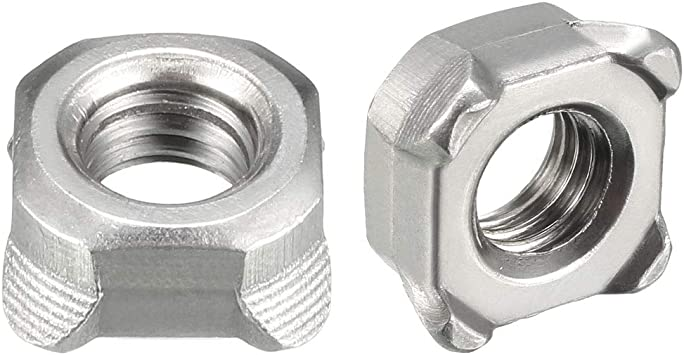 A2 Stainless Steel Square Weld Nuts DIN 928 M8-5 Pack
