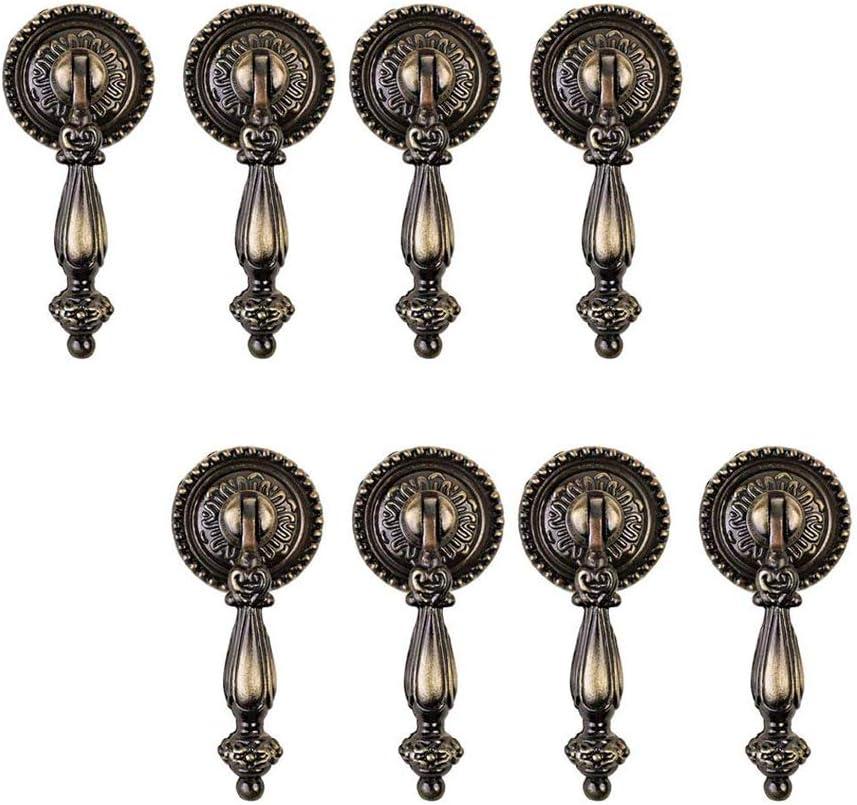 HUI JIN Schubladenkn/öpfe Antik-Bronze 8 St/ück Vintage-Stil