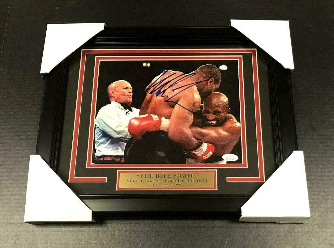 Mike Tyson Evander Hollyfield 8x10 Signed Photo Autographed REPRINT