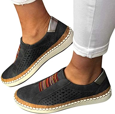 Top Loafers Vintage Flat Walking Shoes
