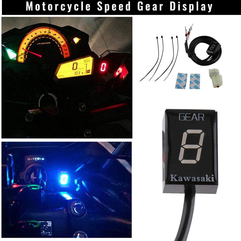 StageOnline Motorcycle LED Speed Gear Digital Display Indicator For Kawasaki Z300 ER6N Z1000SX Ninja 300 Z1000 Z800 Z750 For Motor