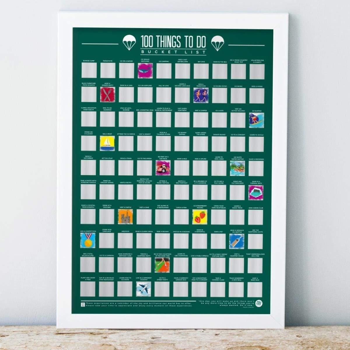 Gift Republic scratch off poster, multicolore, taglia unica GR630006