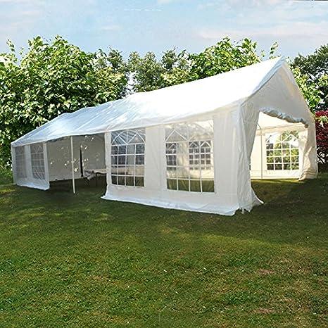 Al aire libre 6 x 12 m heavy duty carpas carpa boda cenador blanco con lados