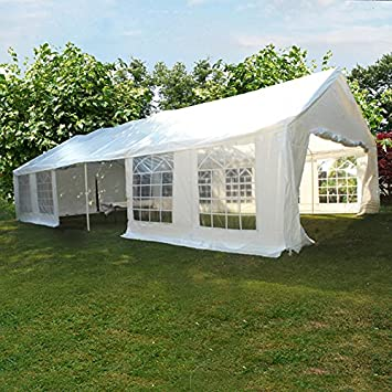 Outdoor 6 x 12 Meters Heavy Duty Wedding Party Tent Marquee Marquees White with Sides & Outdoor 6 x 12 Meters Heavy Duty Wedding Party Tent Marquee ...
