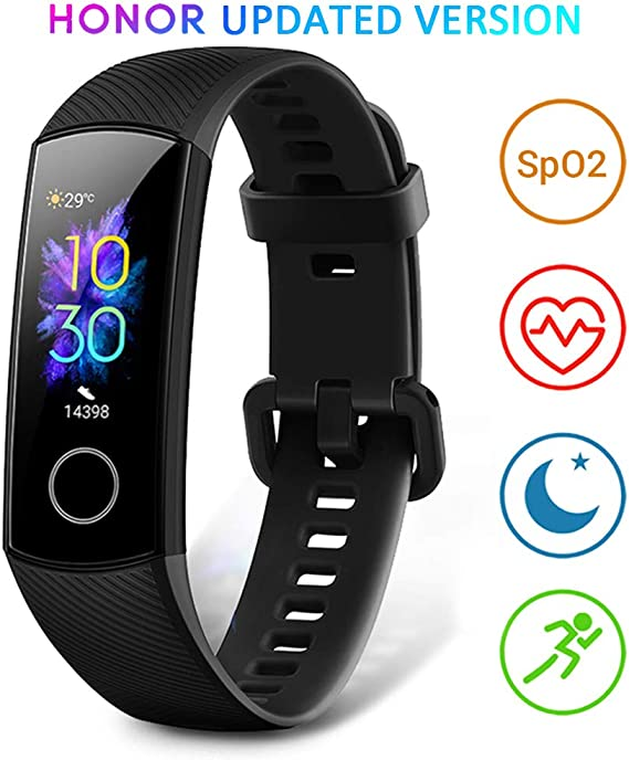 HONOR Band 5 Montre Connectée Bracelet Connecté Podometre Cardio Homme Femme Enfant Smart Watch Android iOS Etanche IP68 Smartwatch Sport Running Sommeil Calorie
