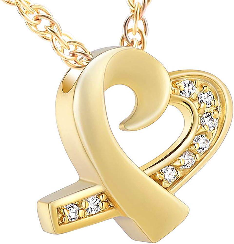 shajwo Cremation Jewelry Infinity Love Heart Urn Pendants Keepsake Memorial Necklaces for Human Pet Ashes Locket Holder for Women Men