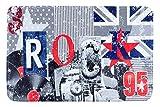 EuroF Irany Dy/Rock Printed Mat 90x 60x 3cm–Grey–Fabric