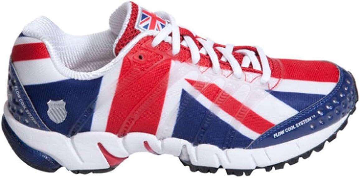 K SWISS K-ONA S Flag Zapatilla de Running Caballero, Rojo/Blanco/Azul, 45: Amazon.es: Zapatos y complementos