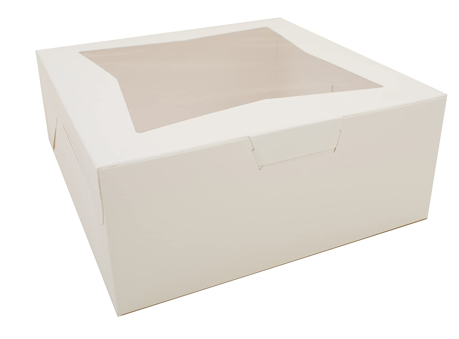 Southern Champion Tray 23073 Paperboard White Lock Corner Window Bakery Box, 12