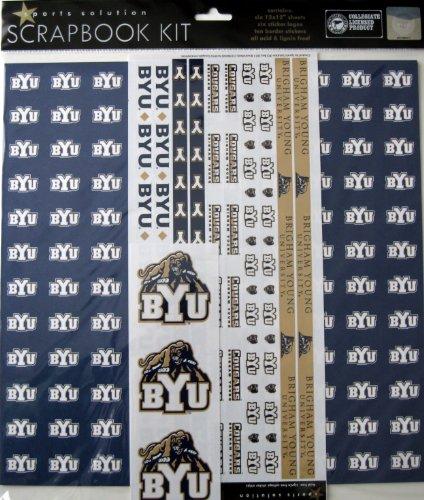 Sports Solution BYU Cougars Scrapbook Page Kit (Utah Scrapbook Kit)