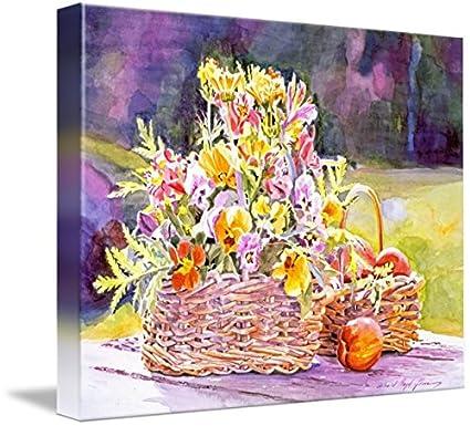 Amazon imagekind wall art print entitled spring flower baskets imagekind wall art print entitled spring flower baskets by david lloyd glover 14 x 11 mightylinksfo