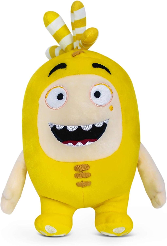 ODDBODS Bubbles Juguete de Peluche Suave — para Niños y Niñas — Amarilla (30cm de Altura)