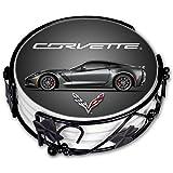 "Art Plates ""Corvette C7 Grey Vette"" Ceramic Drink Coaster Set"