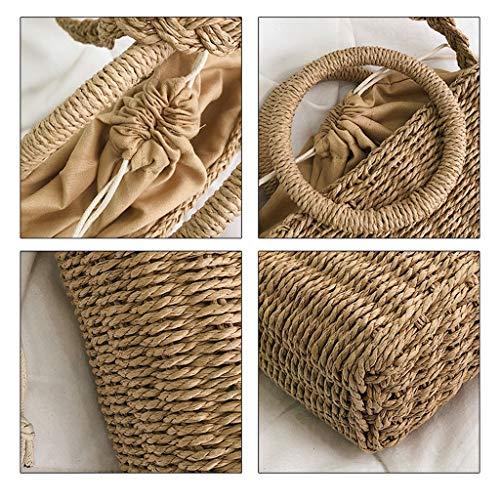 HLD halmväska dam strand semester strandväska handväska axelväska messengerväska mode vävd väska messengerväskor