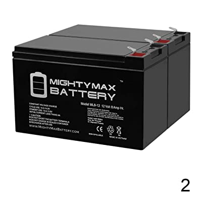 Mighty Max Battery 12V 8Ah Scooter Bike Battery Replaces 7Ah OD 6-DW-7 MK ES7-12 - 2 Pack Brand Product : Sports & Outdoors