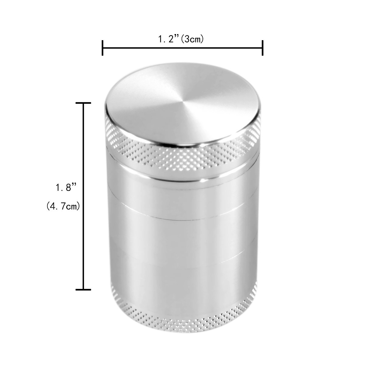 Formax420 Herb Grinder 1.8'' X 1.2'' Inch 5 Pieces Double Filters with Pollen Catcher