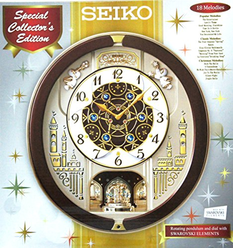 - Seiko Eighteen Melodies Special Collector's Edition Swarovski Crystal Musical Wall Clock