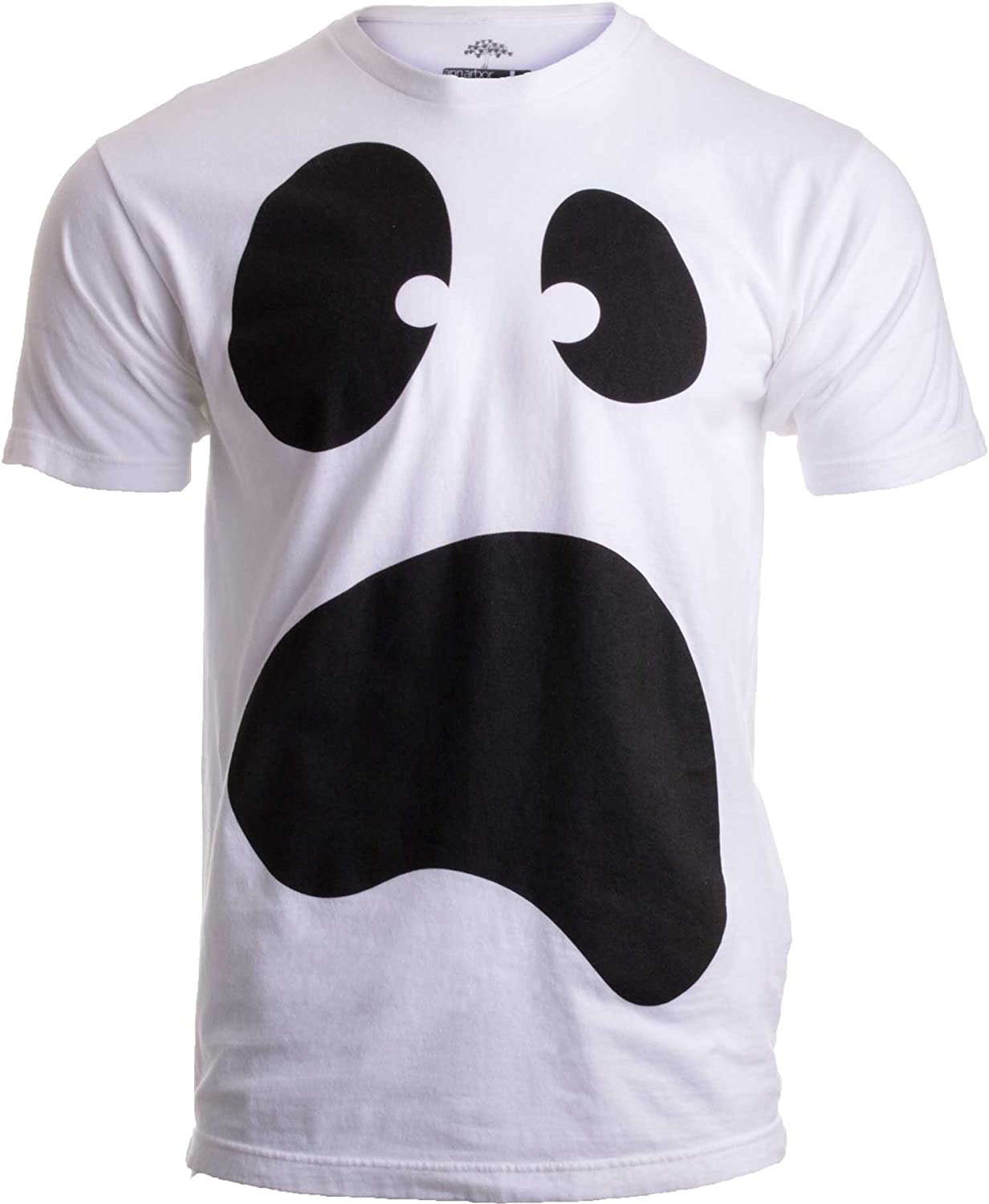 Silly Ghost Face | Spooky Halloween Ghoul Face Easy Costume Unisex T-Shirt