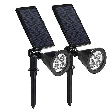 Lampada Solare Wireless da Esterno, Luci Solari con 4 LED 200LM ...