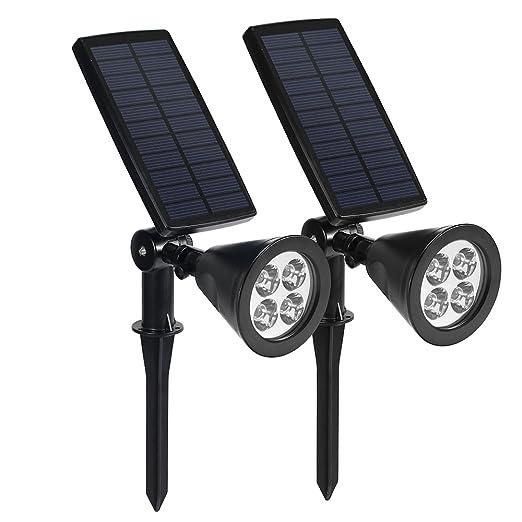 83 opinioni per Lampada Solare Wireless da Esterno, Luci Solari con 4 LED 200LM, Illuminazione