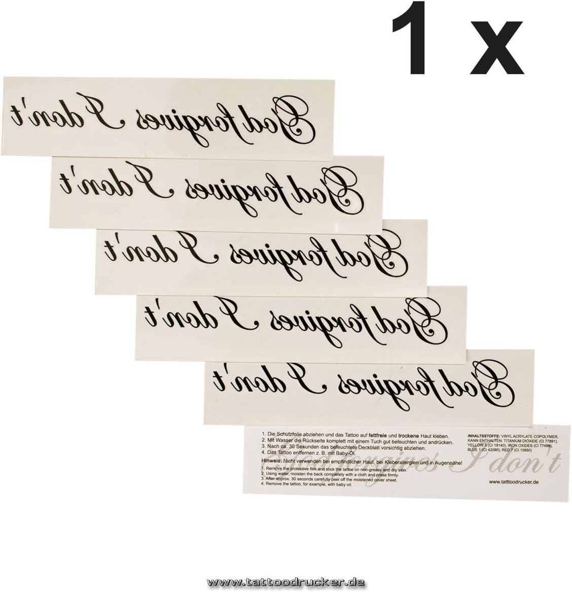 1 x God forgives I dont - Letra de tatuaje en negro (1): Amazon ...