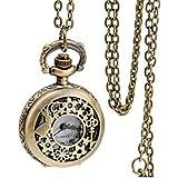 リタプロショップⓇ 不思議の国のアリス 風 懐中時計 ウサギ 鍵 おしゃれ レディース アンティーク ペンダント 時計