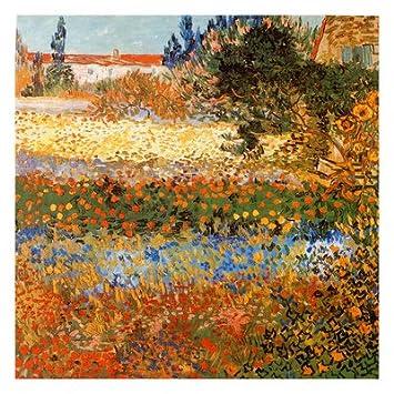 Amazon.com: Jardin Fleuri A Arles Fine Art Poster Print by Vincent ...