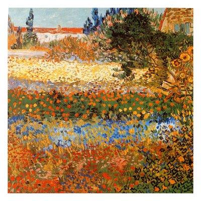 Jardin Fleuri A Arles Fine Art Poster Print By Vincent Van Gogh