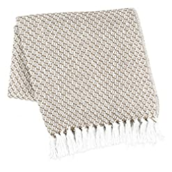 Bedroom Farmhouse Throws Blanket with Fringe for Chair,Couch,Picnic,Camping, Throws for Couch,Everyday Use, 100% Ring Spun… farmhouse blankets and throws