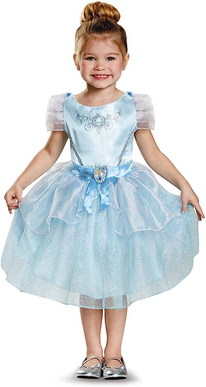 amazon com disney princess cinderella classic costume for girls toys games disney princess cinderella classic costume for girls