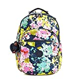 Kipling Women's Seoul Large Printed Laptop Backpack One Size Luscious Florals Blue