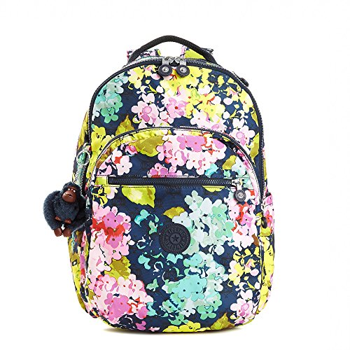 l Large Printed Laptop Backpack One Size Luscious Florals Blue (Kipling Print Wallet)