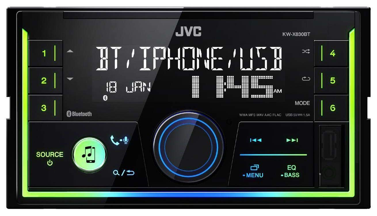 caraudio24 JVC KW-X830BT AUX 2DIN USB MP3 Bluetooth Autoradio f/ür BMW 3er E46 Profiversion gro/ßem Navi Quadlock