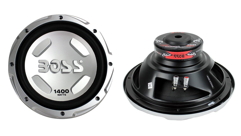 2 New Boss Audio Chaos Cx122 12 2800 Watt Car Power Kit2 8 Gauge Complete Amplifier Wiring Kit Pair Vminnovations Subwoofer Sub Woofer Sports Outdoors