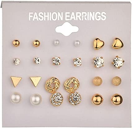 20 Pairs Lovely Rhinestone Pearl Ball Earring Studs for Women Girls Jewelry Necklace Jewelry Crafting Key Chain Bracelet Pendants Accessories Best
