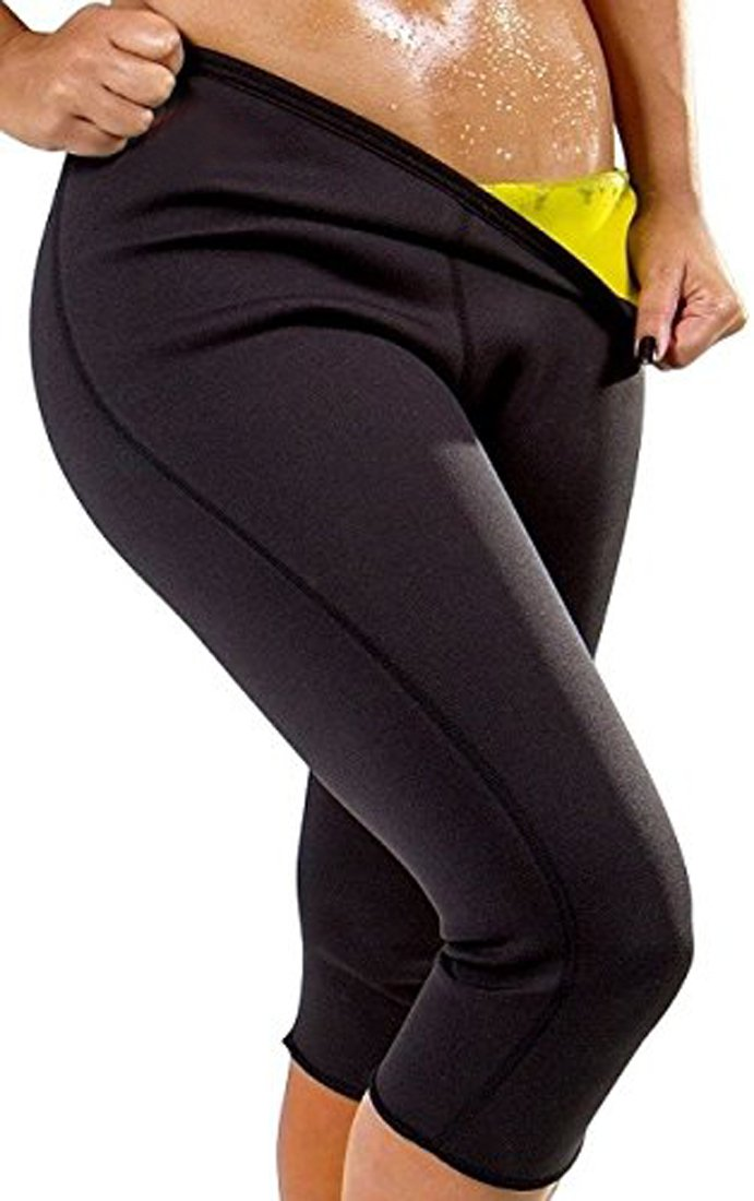 ZAIQUN Womens Workout Neoprene Hot Shapers Slimming Pants Trousers Active Shaper Yoga Gym Fitness