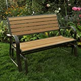 Wood Lifetime Faux Glider Bench