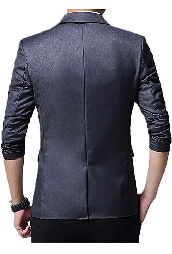 Sanke Herren Slim Fit Blazer Jacke Lässig EIN Knopf Leichte Blazer Anzug  Mantel  Amazon.de  Bekleidung b699f54022