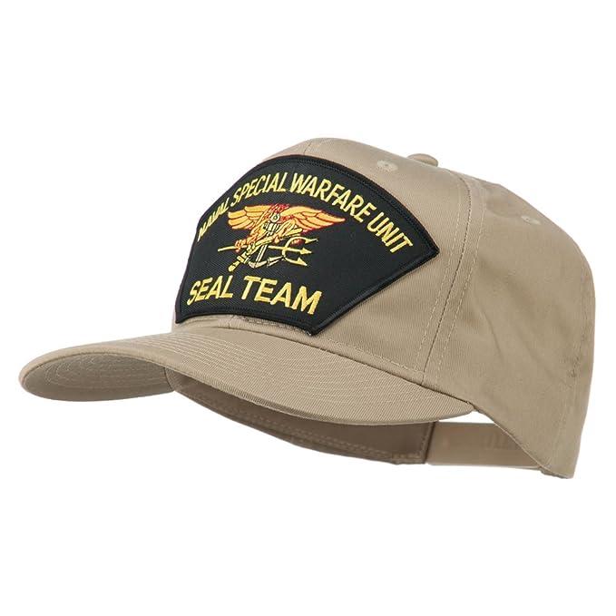 Baseball Caps e4Hats.com Naval Warfare Seal Team Military Patched Cotton Twill Cap