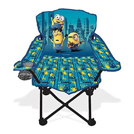 Universal Despicable Me Minions Fold Nu0027 Go Kids Chair W/ Cup Holder U0026 Carry