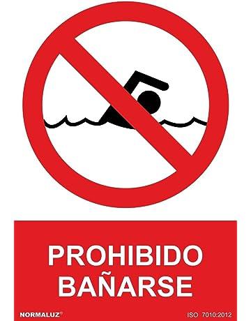 Normaluz RD41037 - Señal Prohibido Bañarse PVC Glasspack 0,7 mm 30x40 cm