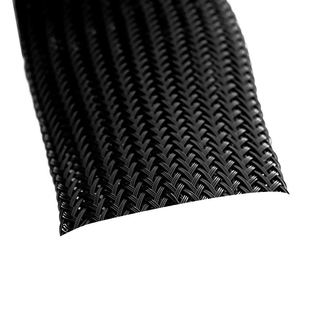 eDealMax a16070200ux0248 trenzado Funda extensible 1, 5 m 30 mm de ancho trenzado de nylon elástico Funda extensible Ramos de cables - - Amazon.com