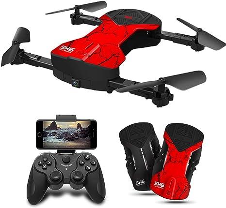 Opinión sobre YAHCQ SH6 Drone, FPV RC Drone con Cámara 500W HD WiFi Vídeo En Vivo, Retorno Automático A Casa, Control De Altitud, Sensor De Gravedad, Apto para Adultos Y Niños