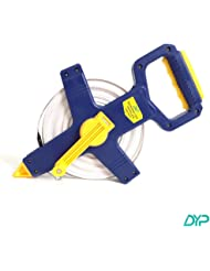 "DYP Fiberglass Open Reel Measuring Tape 1/2""x165' 50 Meters Double Side Measurement Feet Inches Metric"