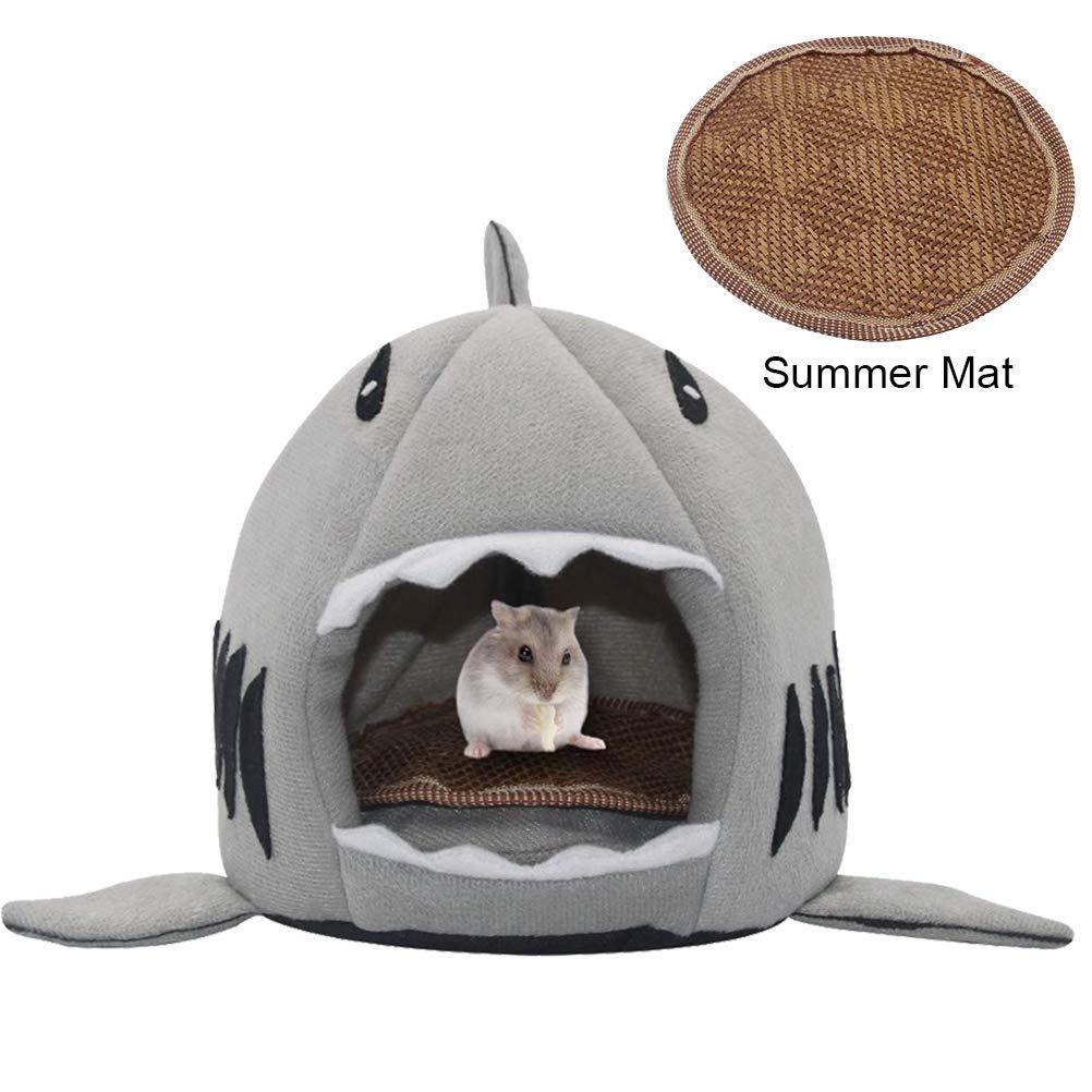 SCIROKKO Small Pet Animals Bed - Cotton Warm Nest Mini House - Free Summer Sleeping Mat for Dutch Pig Hamster Hedgehog Rat Chinchilla Guinea Habitat